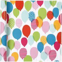 Geschenkpapier, Ballons, B: 57 cm, 80 g, 4 m/ 1 Rolle