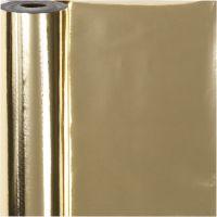 Geschenkpapier, B: 50 cm, 65 g, Gold, 100 m/ 1 Rolle