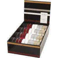 Kräuselband, B: 18 mm, Sortierte Farben, 40x25 m/ 1 Pck