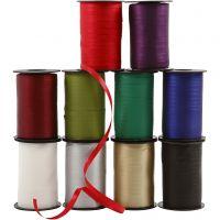 Geschenkband, B: 10 mm, Matt, 10x250 m/ 1 Pck