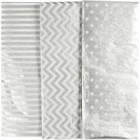 Seidenpapier, 50x70 cm, 17 g, Silber, 6 Bl./ 1 Pck
