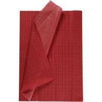 Seidenpapier, 50x70 cm, 17 g, Rot, 6 Bl./ 1 Pck