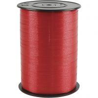 Kräuselband, B: 10 mm, Glänzend, Rot, 250 m/ 1 Rolle