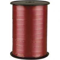 Kräuselband, B: 10 mm, Glänzend, Rubinrot, 250 m/ 1 Rolle