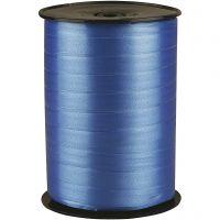 Kräuselband, B: 10 mm, Glänzend, Blau, 250 m/ 1 Rolle