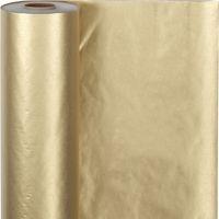 Geschenkpapier , B: 50 cm, 60 g, Gold, 100 m/ 1 Rolle