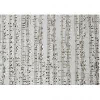 Pergamentpapier mit Notenmuster, Noten, A4, 210x297 mm, 115 g, 10 Bl./ 1 Pck