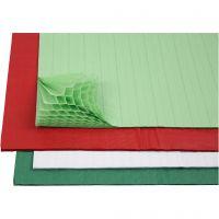 Wabenpapier - Sortiment, 28x17,8 cm, Sortierte Farben, 4x2 Bl./ 1 Pck