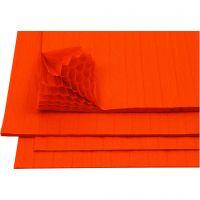 Harmonika-Papier, 28x17,8 cm, Orange, 8 Bl./ 1 Pck