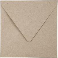 Recycling-Kuverts, Umschlaggröße 16x16 cm, 120 g, Natur, 50 Stk/ 1 Pck