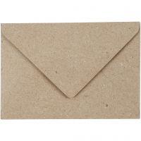 Recycling-Kuverts, Umschlaggröße 7,8x11,5 cm, 120 g, Beige, 50 Stk/ 1 Pck