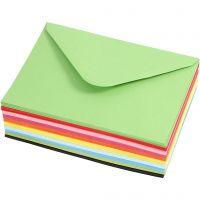 Farbige Briefumschläge, Umschlaggröße 11,5x16 cm, 80 g, 10x10 Stk/ 1 Pck