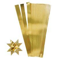 Papierstreifen für Sterne, L: 45 cm, B: 10 mm, D: 4,5 cm, Gold, 100 Streifen/ 1 Pck