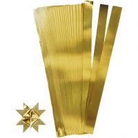 Papierstreifen für Sterne, L: 73 cm, D: 11,5 cm, B: 25 mm, Gold, 100 Streifen/ 1 Pck