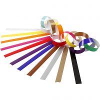 Papierketten, L: 16 cm, B: 15 mm, Sortierte Farben, 400 Stk/ 1 Pck