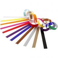 Papierketten, L: 16 cm, B: 15 mm, Sortierte Farben, 2400 Stk/ 1 Pck
