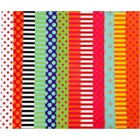 Glanzpapier, Motive, 24x32 cm, 80 g, Sortierte Farben, 50 Bl. sort./ 1 Pck