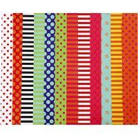 Glanzpapier, Pattern, 32x48 cm, 80 g, Sortierte Farben, 100 Bl. sort./ 1 Pck