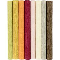 Krepppapier, 25x60 cm, Kreppanteil: 180%, 105 g, Pastellfarben, 8 Bl./ 1 Pck