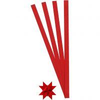 Papierstreifen für Sterne, L: 45 cm, D: 4,5 cm, B: 10 mm, Rot, 100 Streifen/ 1 Pck