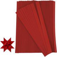 Papierstreifen für Sterne, L: 45 cm, B: 10 mm, D: 4,5 cm, Rot, 500 Streifen/ 1 Pck