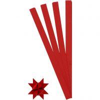Papierstreifen für Sterne, L: 45 cm, D: 6,5 cm, B: 15 mm, Rot, 100 Streifen/ 1 Pck