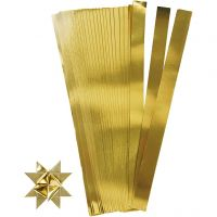 Papierstreifen für Sterne, L: 45 cm, D: 6,5 cm, B: 15 mm, Gold, 100 Streifen/ 1 Pck