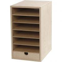 Papier-Container , H: 31,5 cm, Tiefe 24,5 cm, B: 18 cm, A5, 1 Stk