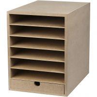 Papier-Container , H: 31,5 cm, Tiefe 32 cm, B: 24,3 cm, A4, 1 Stk