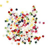 Karton-Mosaik, Quadrat, Größe 10x10 mm, 180 g/ 1 Pck