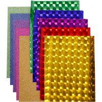 Dekofolie - Sortiment, B: 35 cm, Dicke 30+110 my, Sortierte Farben, 10x2 m/ 1 Pck