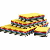 Farbkarton, A2,A3,A4,A5,A6, 180 g, Sortierte Farben, 1800 Bl. sort./ 1 Pck