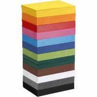 Farbkarton, A6, 105x148 mm, 180 g, Sortierte Farben, 12x100 Bl./ 1 Pck