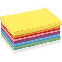 Karton in sortierten Farben, A6, 105x148 mm, 180 g, Sortierte Farben, 120 Bl. sort./ 1 Pck