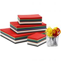Weihnachtskarten und Scheren - Sortiment, A3,A4,A5,A6, 180 g, Sortierte Farben, 1 Set