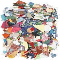 Stanzformen aus handgeschöpftem Papier - Sortiment, Größe 25-130 mm, 110 g, 500 g/ 1 Pck