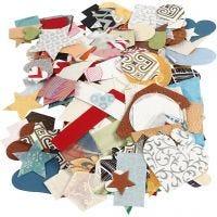 Stanzformen aus handgeschöpftem Papier - Sortiment, Größe 25-130 mm, 110 g, 100 g/ 1 Pck