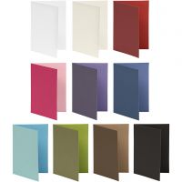 Briefkarte, Kartengröße 10,5x15 cm, Inhalt kann variieren , 250 g, Sortierte Farben, 30 Pck/ 1 Pck