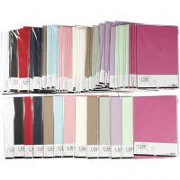 Karton, A4, 210x297 mm, 220 g, Sortierte Farben, 12x10 Pck/ 1 Pck