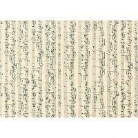 Karton, Musiknoten, A4, 210x297 mm, 180 g, 10 Bl./ 1 Pck