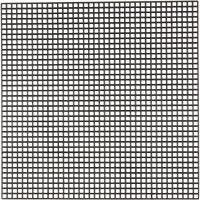 Stickmatten, Größe 14x14 cm, Lochgröße 3x3 mm, Schwarz, 50 Bl./ 1 Pck
