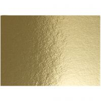 Metallic-Folienkarton, A4, 210x297 mm, 280 g, Gold, 10 Bl./ 1 Pck