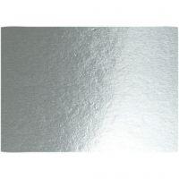 Metallic-Folienkarton, A4, 210x297 mm, 280 g, Silber, 10 Bl./ 1 Pck