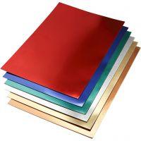 Metallic-Folienkarton, A2, 420x600 mm, 280 g, Sortierte Farben, 30 Bl. sort./ 1 Pck