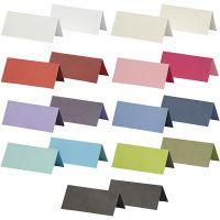 Tischkarten, Größe 9x4 cm, Inhalt kann variieren , 250 g, Sortierte Farben, 30 Pck/ 1 Pck