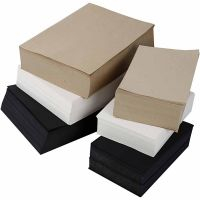 Kraftpapier, A3,A4, 100 g, Schwarz, Grau, Edel, Weiß, 6000 Bl. sort./ 1 Pck