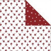 Design-Papier - Sortiment, Herzen / Eiskristalle, 30,5x30,5 cm, 180 g, 3 Bl./ 1 Pck