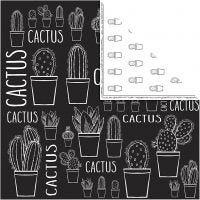 Design-Papier, Kaktus, 180 g, 5 Bl./ 1 Pck