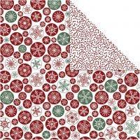 Design-Papier, Eiskristalle / Punkte, 30,5x30,5 cm, 180 g, 5 Bl./ 1 Pck