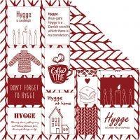 Design-Papier, Hygge / Strickmuster, 30,5x30,5 cm, 180 g, 5 Bl./ 1 Pck